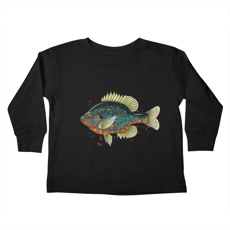 Pumpkinseed Kids Toddler Longsleeve T-Shirt by Boneyard Studio - Boneyard Fly Gear