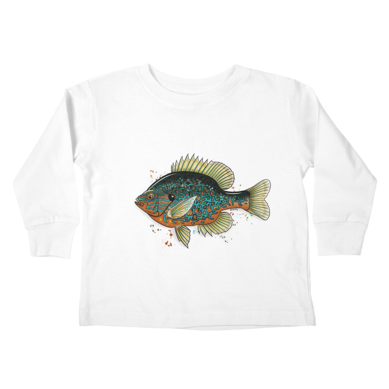 Pumpkinseed Kids Toddler Longsleeve T-Shirt by Boneyard Studio - Boneyard Fly Gear