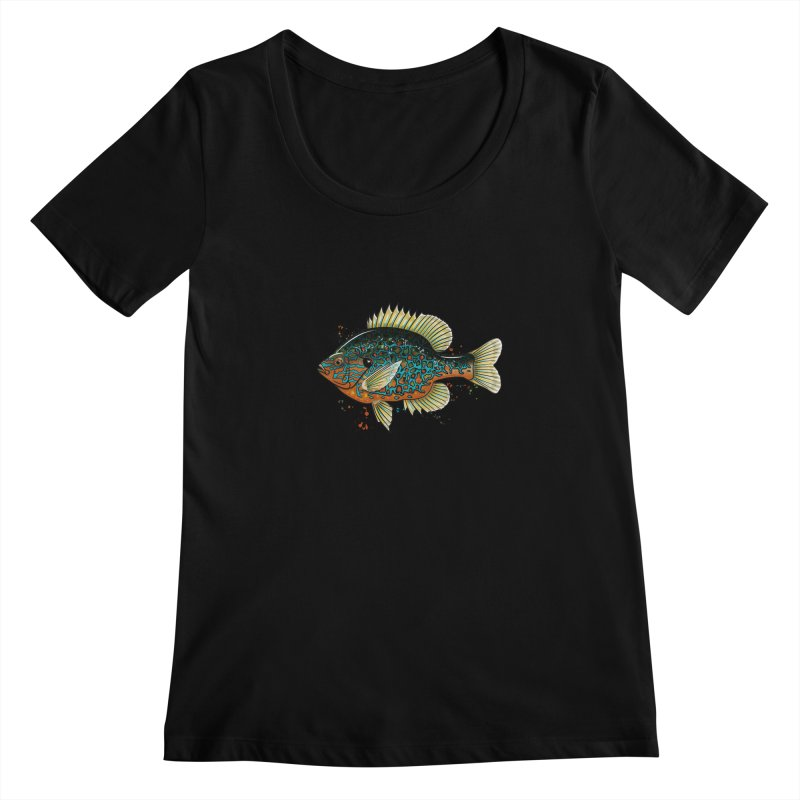 Pumpkinseed Women's Scoopneck by Boneyard Studio - Boneyard Fly Gear