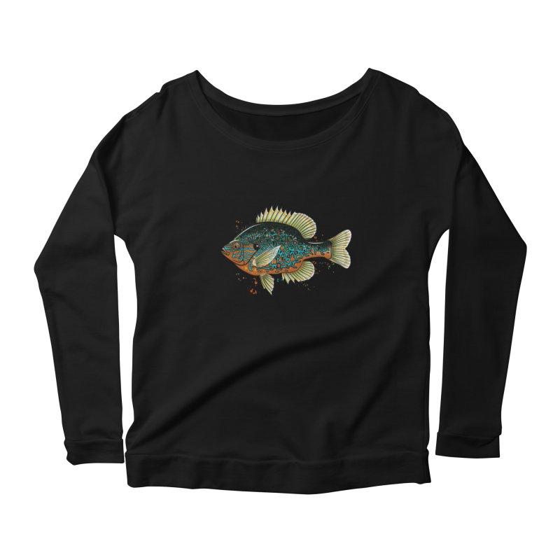 Pumpkinseed Women's Scoop Neck Longsleeve T-Shirt by Boneyard Studio - Boneyard Fly Gear