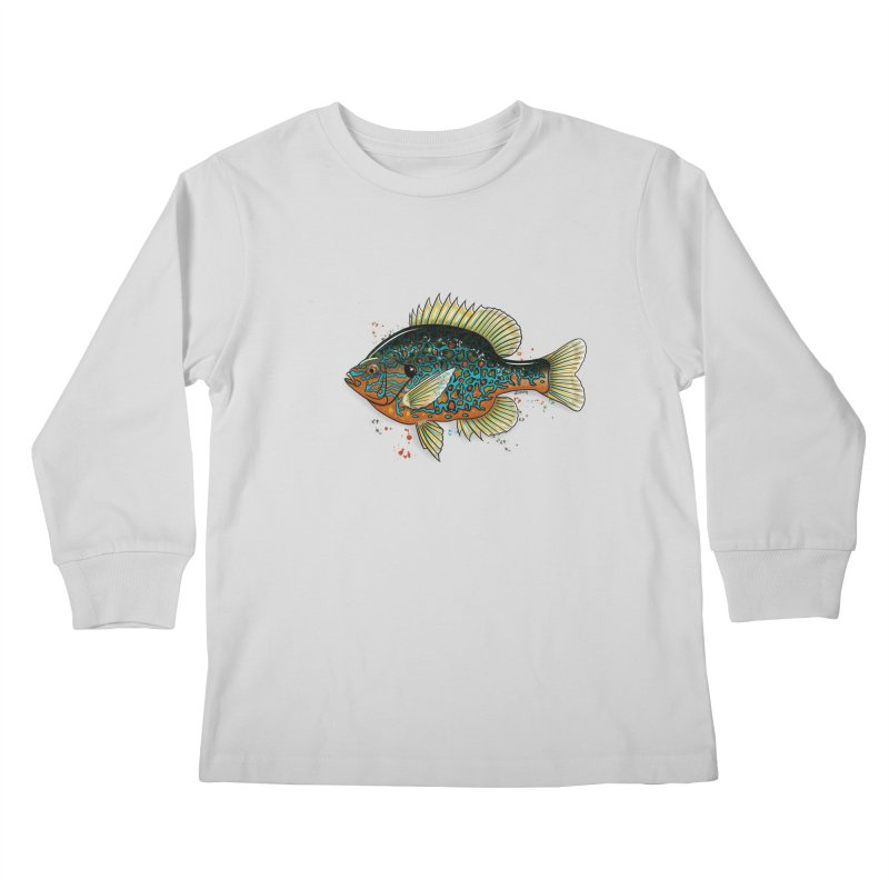 Pumpkinseed Kids Longsleeve T-Shirt by Boneyard Studio - Boneyard Fly Gear