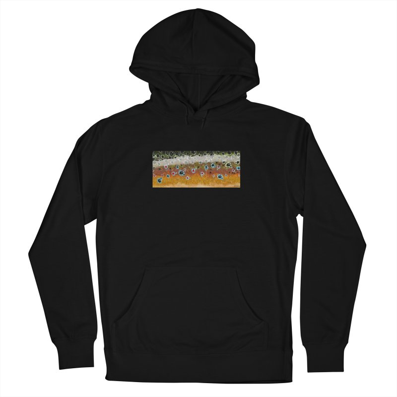 Morning Brown Trout in Men's Pullover Hoody Black by Boneyard Studio - Boneyard Fly Gear
