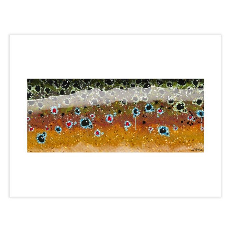 Morning Brown Trout - Fine Art Print Home Fine Art Print by Boneyard Studio - Boneyard Fly Gear