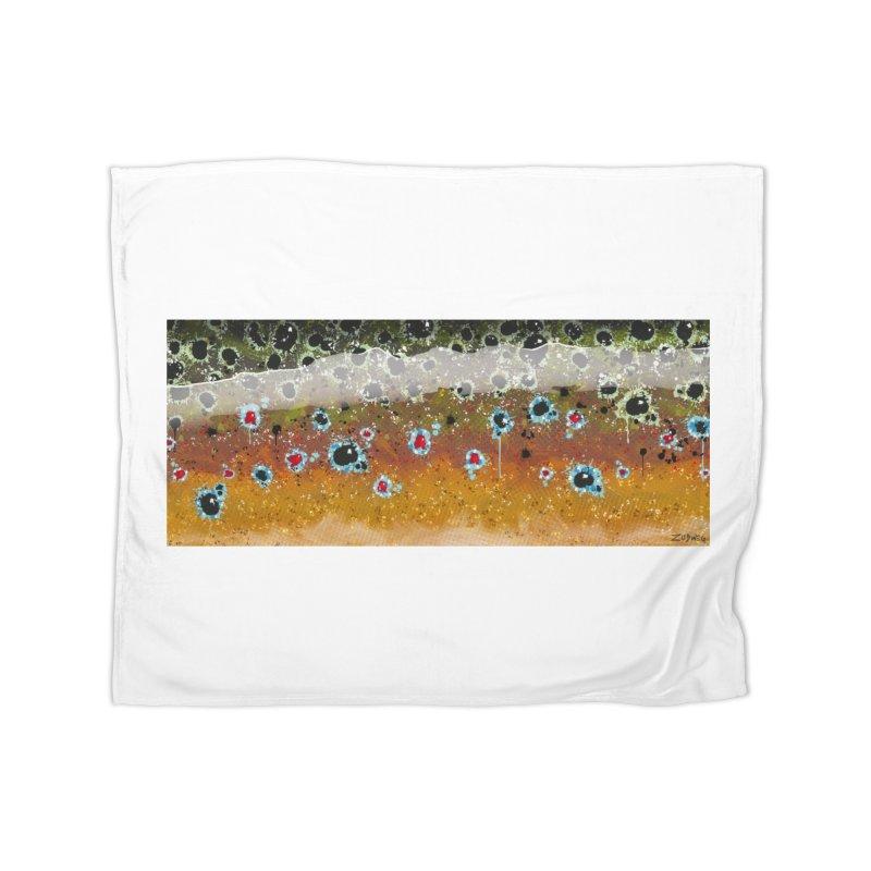 Morning Brown Trout - Fine Art Print Home Blanket by Boneyard Studio - Boneyard Fly Gear