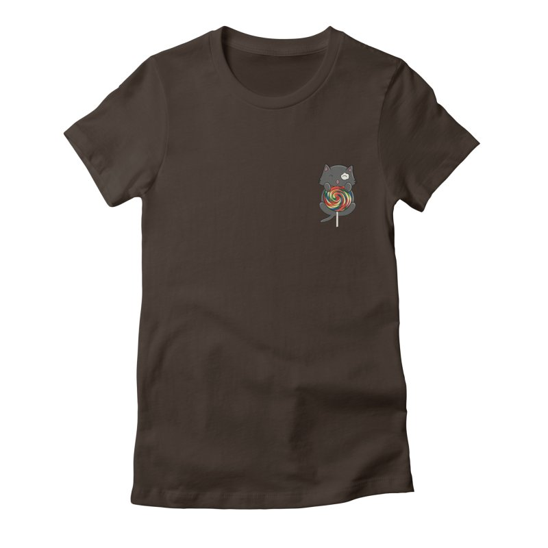 Alexa's Lollipop Cat Women's Fitted T-Shirt by Boneyard Studio - Boneyard Fly Gear