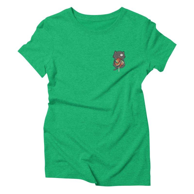 Alexa's Lollipop Cat Women's Triblend T-Shirt by Boneyard Studio - Boneyard Fly Gear