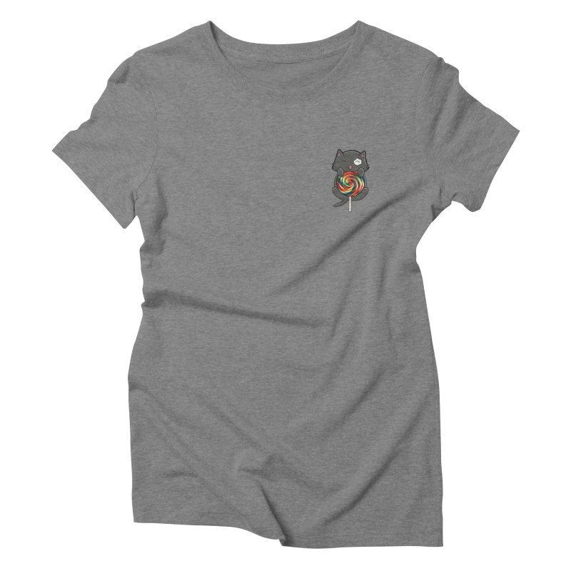 Alexa's Lollipop Cat Women's Triblend T-Shirt by Boneyard Studio - Boneyard Fly Gear