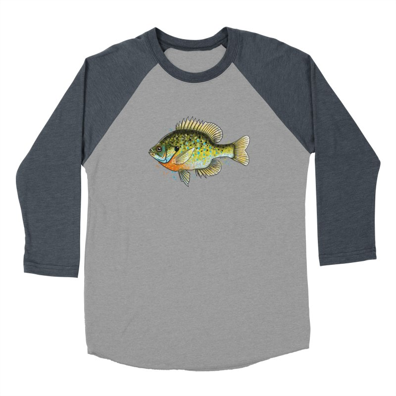 Bluegill Women's Baseball Triblend Longsleeve T-Shirt by Boneyard Studio - Boneyard Fly Gear