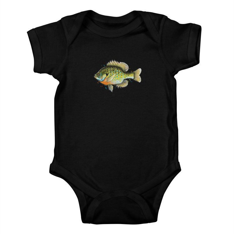 Bluegill Kids Baby Bodysuit by Boneyard Studio - Boneyard Fly Gear