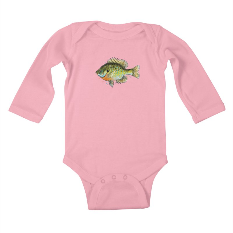 Bluegill Kids Baby Longsleeve Bodysuit by Boneyard Studio - Boneyard Fly Gear