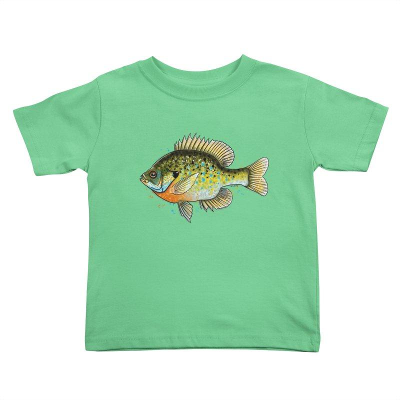 Bluegill Kids Toddler T-Shirt by Boneyard Studio - Boneyard Fly Gear