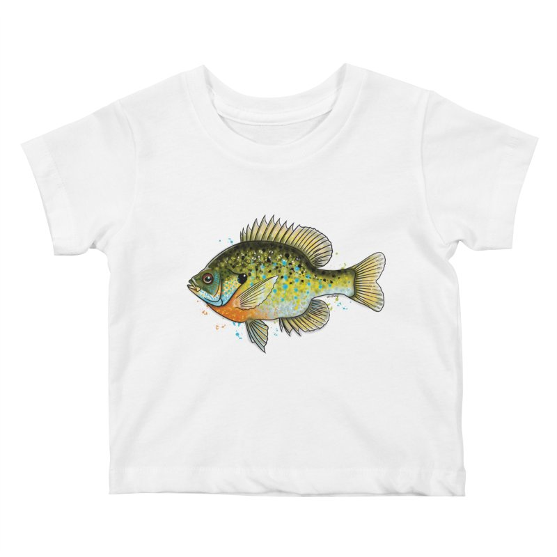 Bluegill Kids Baby T-Shirt by Boneyard Studio - Boneyard Fly Gear