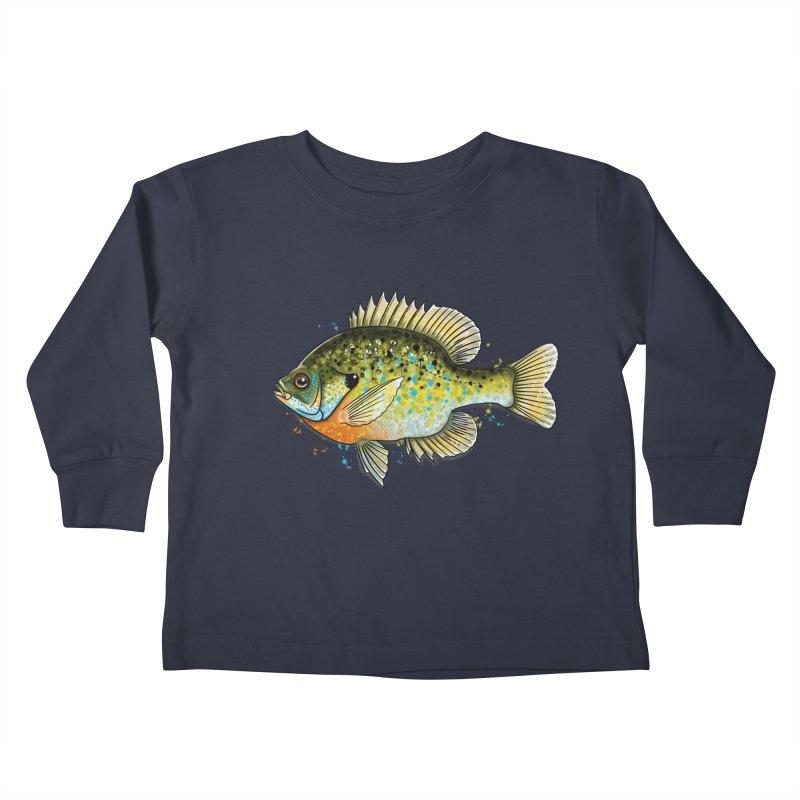 Bluegill Kids Toddler Longsleeve T-Shirt by Boneyard Studio - Boneyard Fly Gear