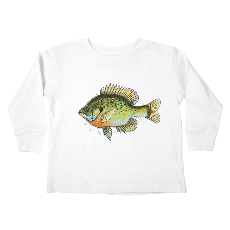 Bluegill Kids Toddler Longsleeve T-Shirt by Boneyard Studio - Boneyard Fly Gear