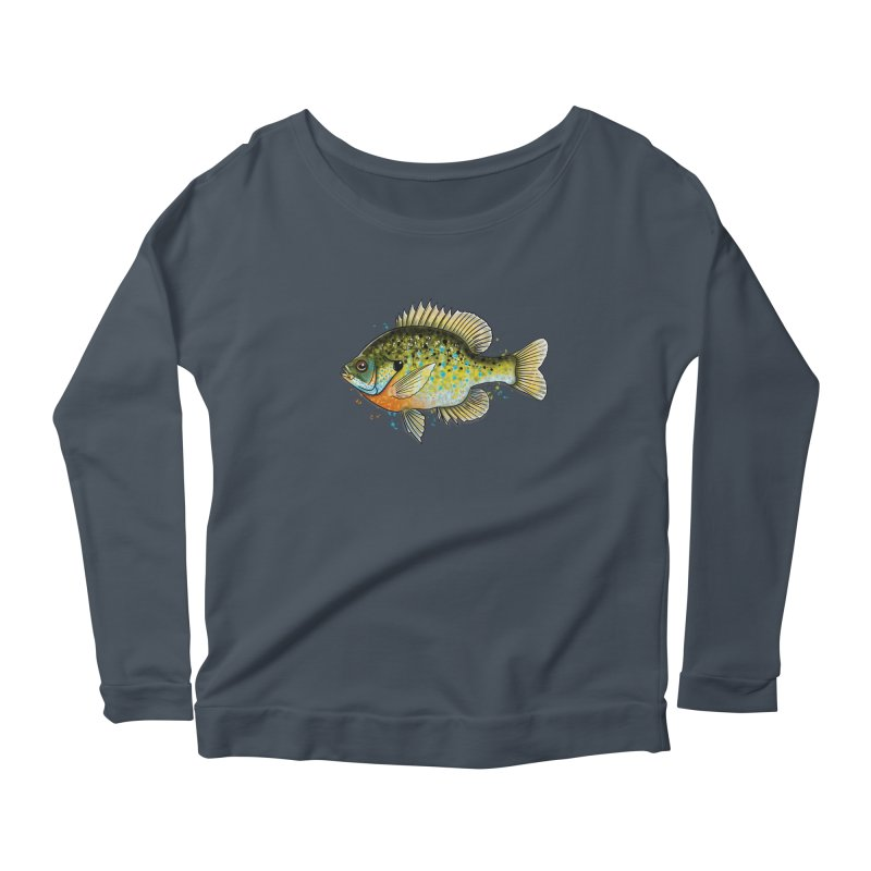 Bluegill Women's Scoop Neck Longsleeve T-Shirt by Boneyard Studio - Boneyard Fly Gear