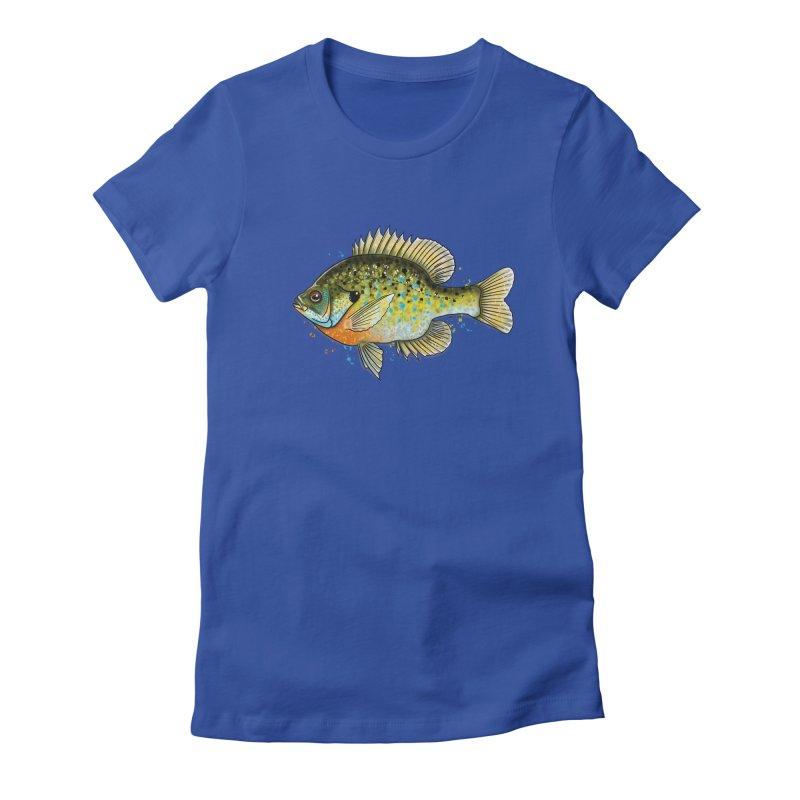 Bluegill Women's Fitted T-Shirt by Boneyard Studio - Boneyard Fly Gear