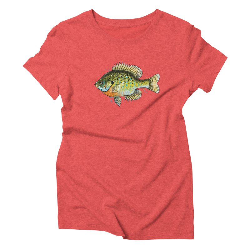 Bluegill Women's Triblend T-Shirt by Boneyard Studio - Boneyard Fly Gear
