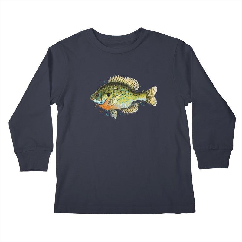 Bluegill Kids Longsleeve T-Shirt by Boneyard Studio - Boneyard Fly Gear