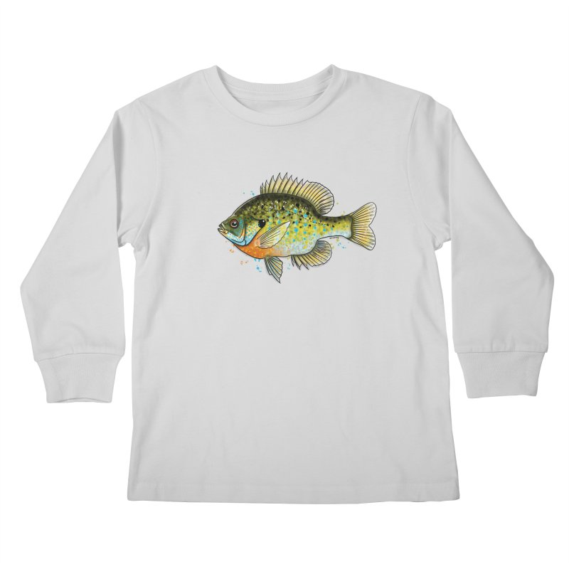Bluegill Kids Longsleeve T-Shirt by Boneyard Studio - Boneyard Fly Gear