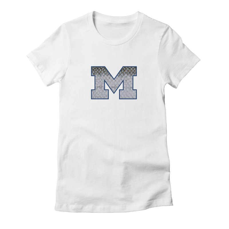 Michigan Steel Women's Fitted T-Shirt by Boneyard Studio - Boneyard Fly Gear