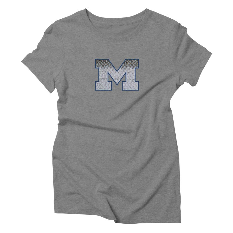 Michigan Steel Women's Triblend T-Shirt by Boneyard Studio - Boneyard Fly Gear