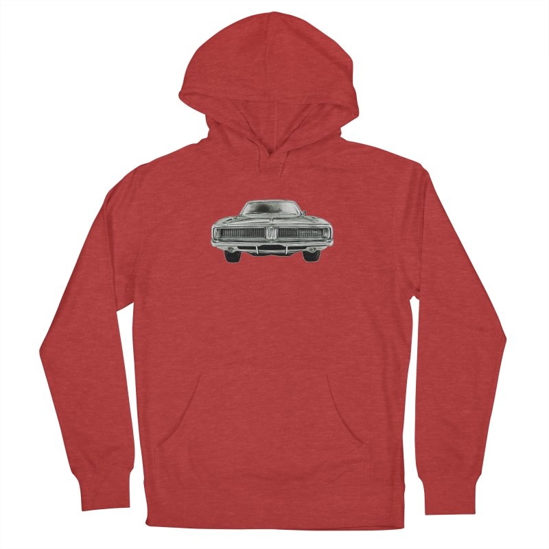 69 Charger sketch Men's French Terry Pullover Hoody by Boneyard Studio - Boneyard Fly Gear