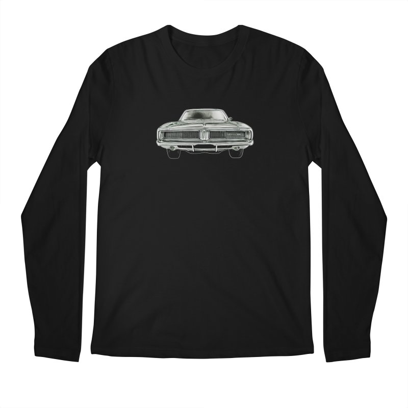 69 Charger sketch Men's Regular Longsleeve T-Shirt by Boneyard Studio - Boneyard Fly Gear