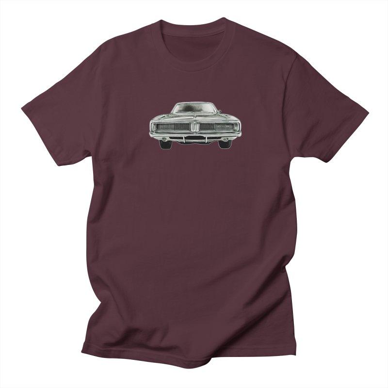 69 Charger sketch Men's T-Shirt by Boneyard Studio - Boneyard Fly Gear