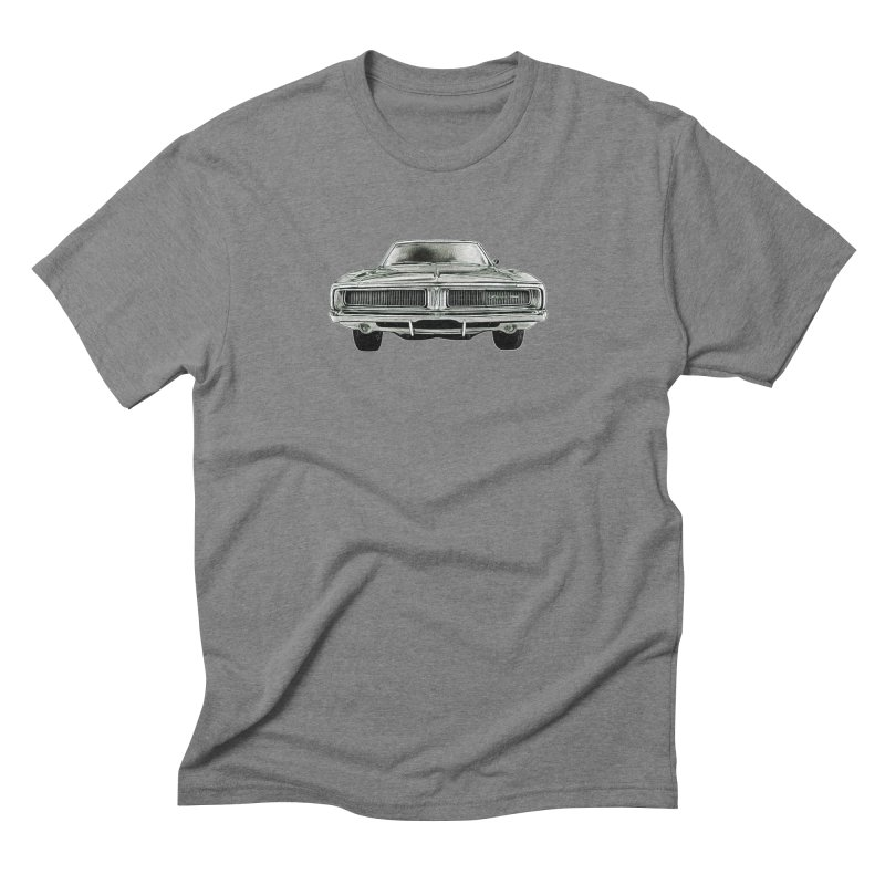69 Charger sketch Men's Triblend T-Shirt by Boneyard Studio - Boneyard Fly Gear