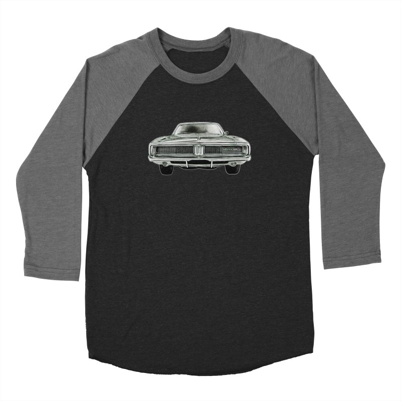 69 Charger sketch Men's Baseball Triblend Longsleeve T-Shirt by Boneyard Studio - Boneyard Fly Gear