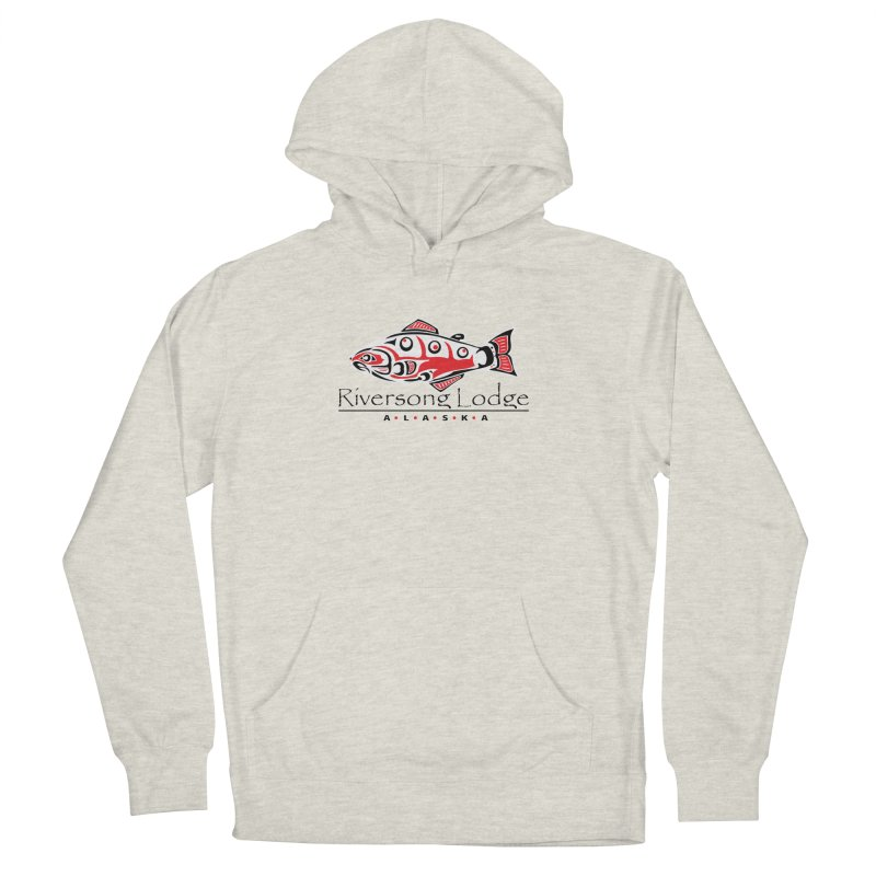 River Song Lodge Alaska Men's French Terry Pullover Hoody by Boneyard Studio - Boneyard Fly Gear