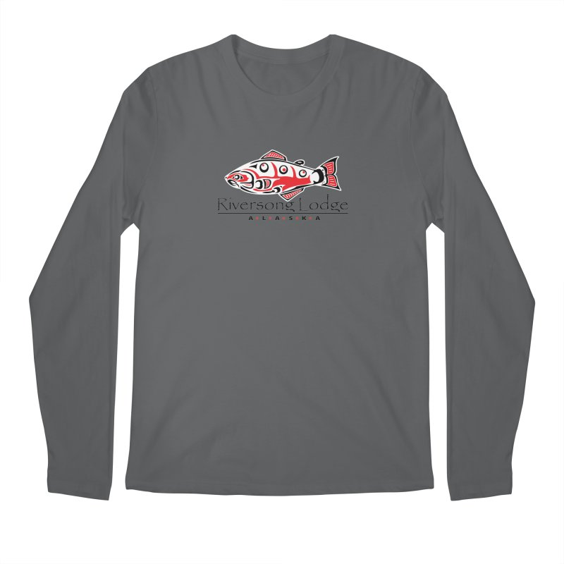 River Song Lodge Alaska Men's Regular Longsleeve T-Shirt by Boneyard Studio - Boneyard Fly Gear
