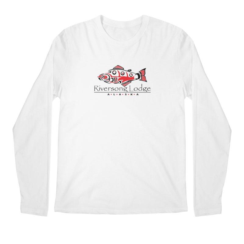 River Song Lodge Alaska Men's Longsleeve T-Shirt by Boneyard Studio - Boneyard Fly Gear