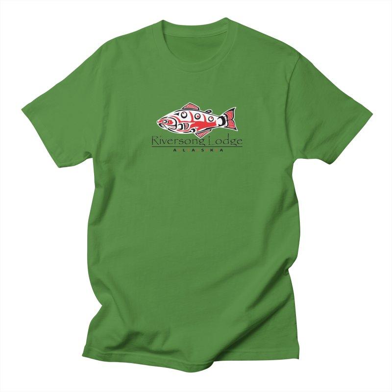 River Song Lodge Alaska Men's Regular T-Shirt by Boneyard Studio - Boneyard Fly Gear