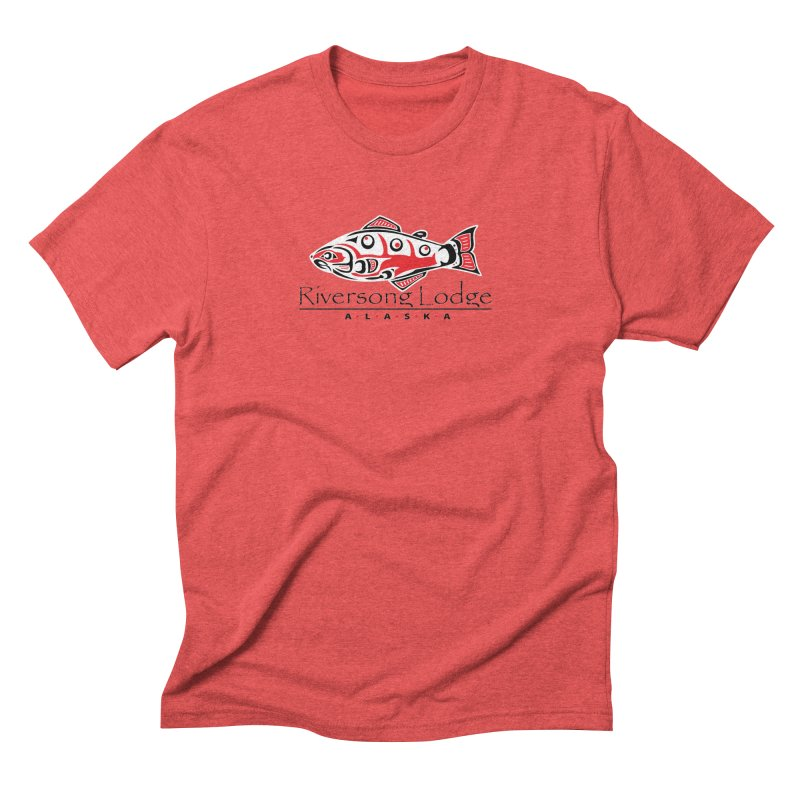 River Song Lodge Alaska Men's Triblend T-Shirt by Boneyard Studio - Boneyard Fly Gear