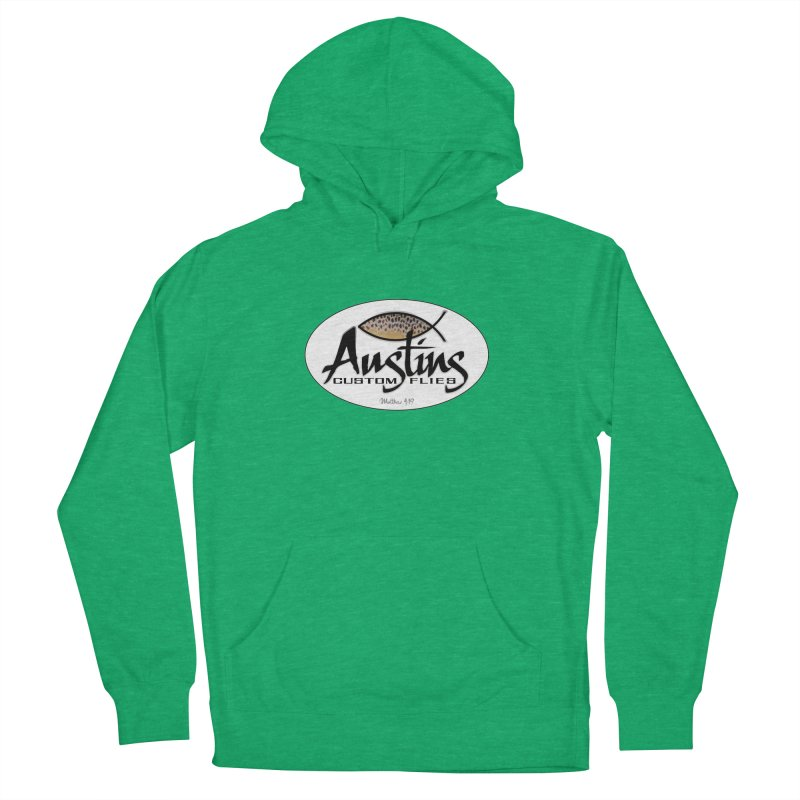 Austins Custom Flies Women's French Terry Pullover Hoody by Boneyard Studio - Boneyard Fly Gear
