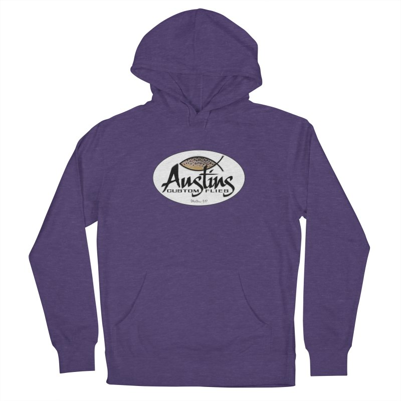 Austins Custom Flies Men's French Terry Pullover Hoody by Boneyard Studio - Boneyard Fly Gear