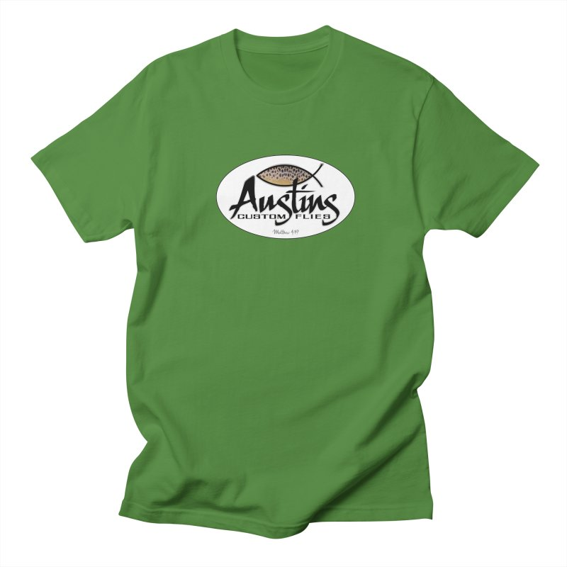 Austins Custom Flies Men's Regular T-Shirt by Boneyard Studio - Boneyard Fly Gear