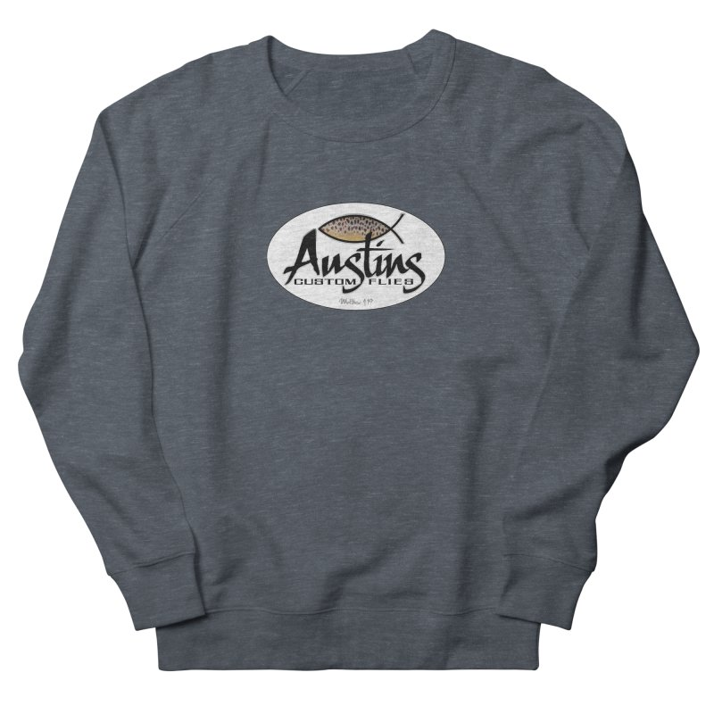 Austins Custom Flies Women's French Terry Sweatshirt by Boneyard Studio - Boneyard Fly Gear