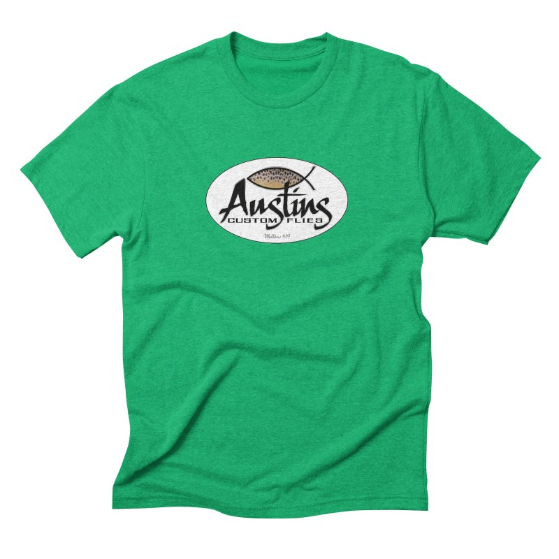 Austins Custom Flies Men's Triblend T-Shirt by Boneyard Studio - Boneyard Fly Gear