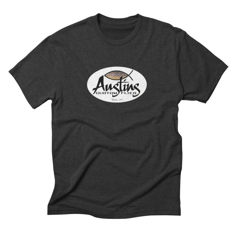Austins Custom Flies Men's Triblend T-Shirt by Boneyard Studio - Boneyard Fly Gear