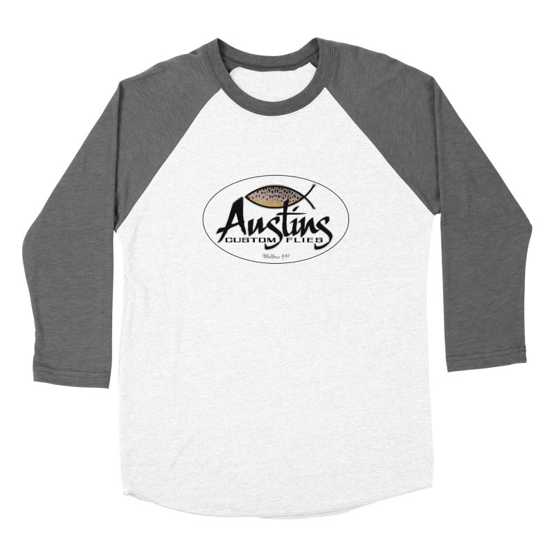 Austins Custom Flies Men's Baseball Triblend Longsleeve T-Shirt by Boneyard Studio - Boneyard Fly Gear