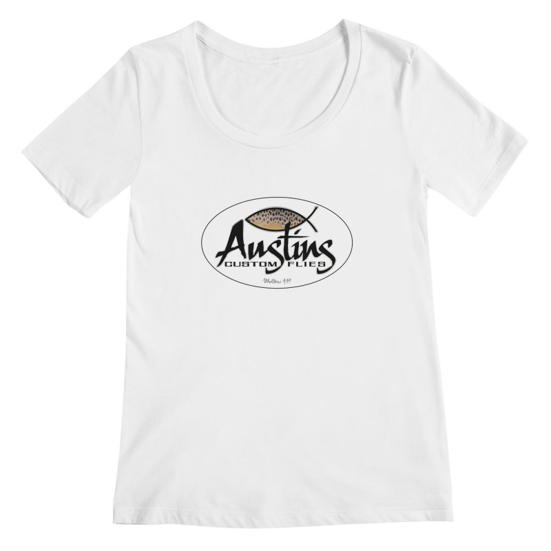 Austins Custom Flies Women's Regular Scoop Neck by Boneyard Studio - Boneyard Fly Gear