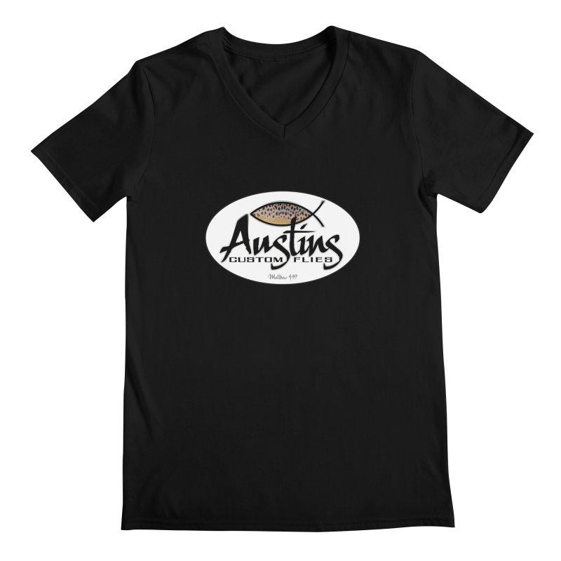 Austins Custom Flies Men's Regular V-Neck by Boneyard Studio - Boneyard Fly Gear