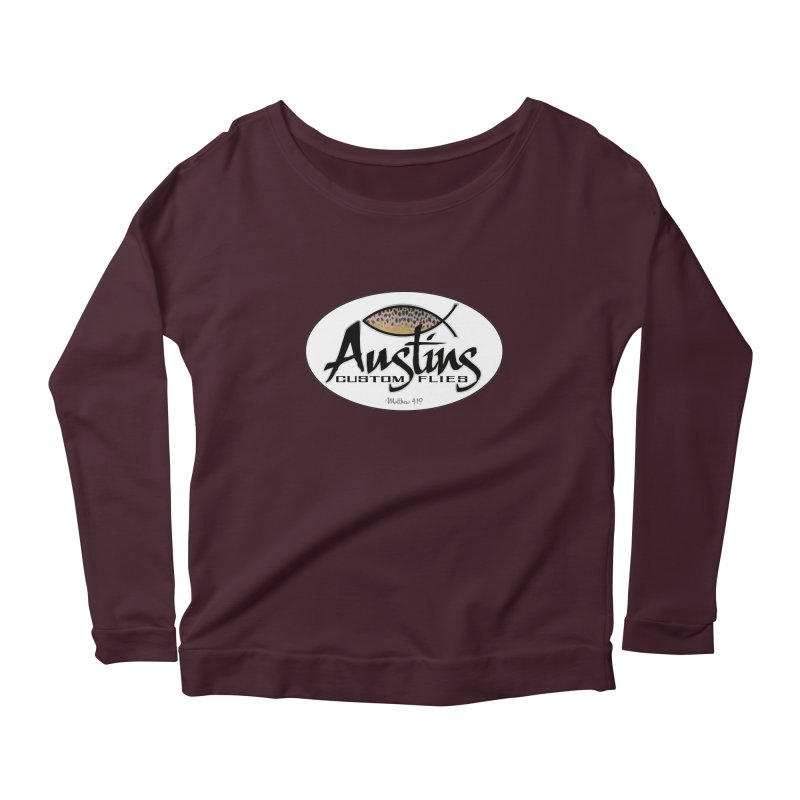 Austins Custom Flies Women's Scoop Neck Longsleeve T-Shirt by Boneyard Studio - Boneyard Fly Gear
