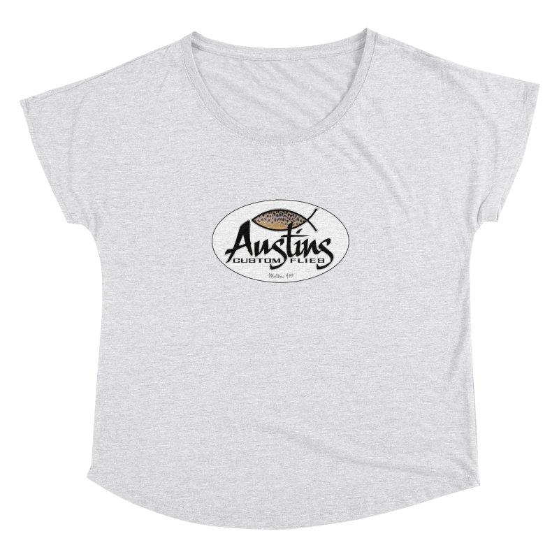 Austins Custom Flies Women's Dolman Scoop Neck by Boneyard Studio - Boneyard Fly Gear