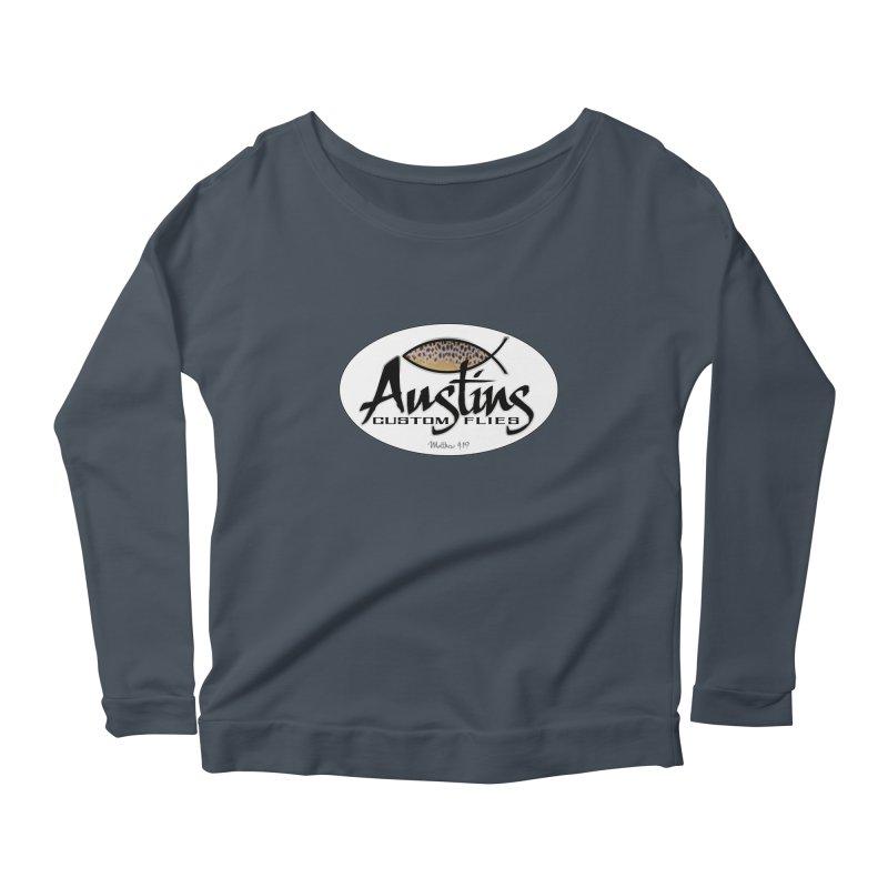 Austins Custom Flies Women's Scoop Neck Longsleeve T-Shirt by Boneyard Studio - Boneyard Fly Gear