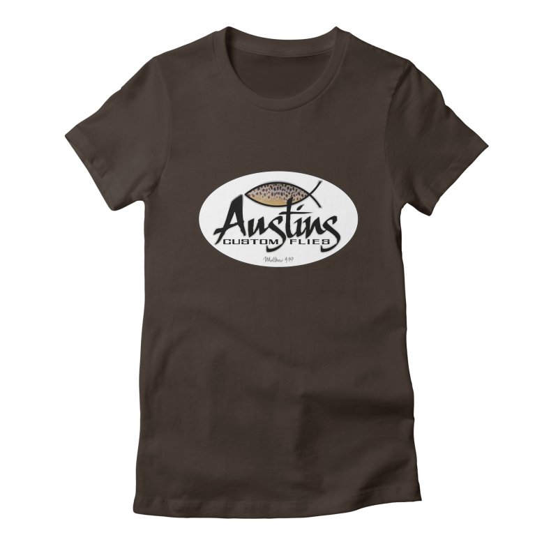 Austins Custom Flies Women's Fitted T-Shirt by Boneyard Studio - Boneyard Fly Gear
