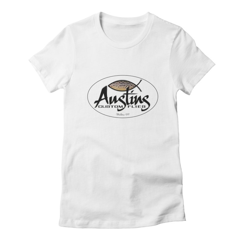 Austins Custom Flies Women's Fitted T-Shirt by Boneyard Studio - Boneyard Fly Gear