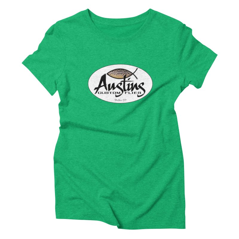 Austins Custom Flies Women's Triblend T-Shirt by Boneyard Studio - Boneyard Fly Gear